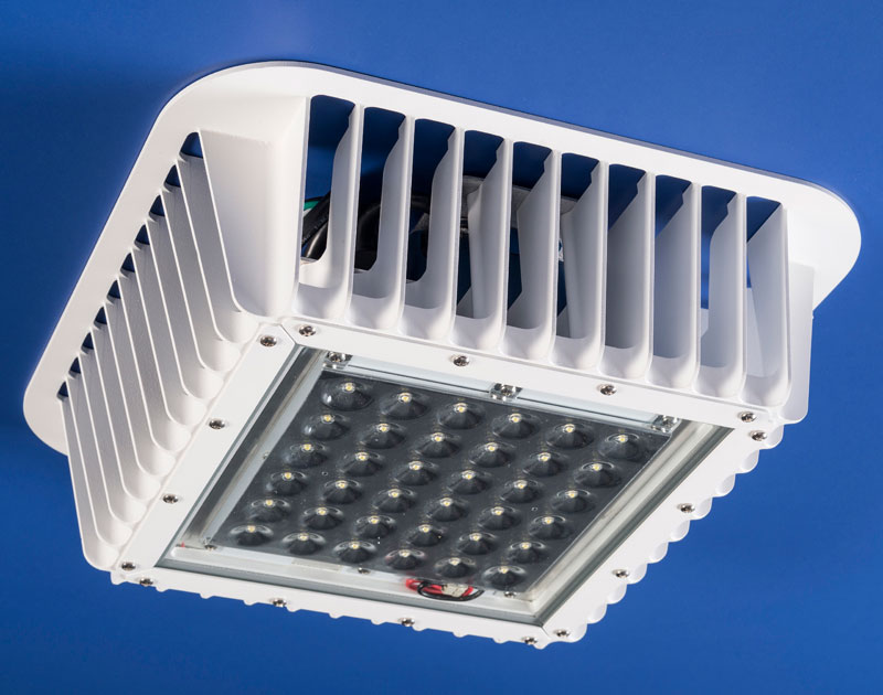 LED Array Closeup - LED Canopy-8K Light Retrofit Kits for Gas Pump Canopies