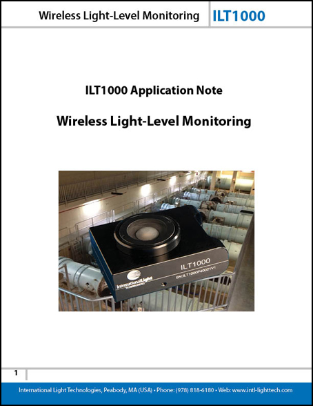 wireless light level monitoring