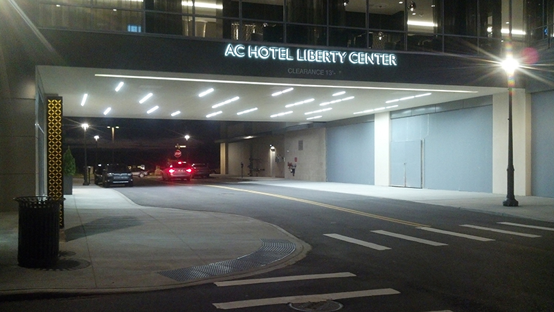 Marriot Hotel Custom LED Lighting-Drive-up Canopy