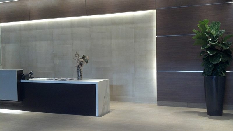 Marriot Hotel Custom LED Lighting-Reception Area