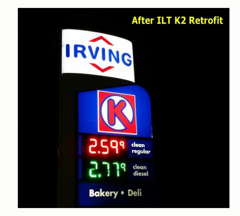 Irving Oil LED Sign Retrofit