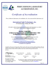 ISO17025 Certificate